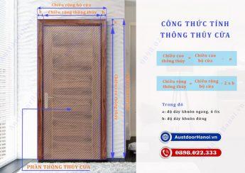 Kích thước cửa đi thông phòng ngủ 1 cánh theo thông thủy