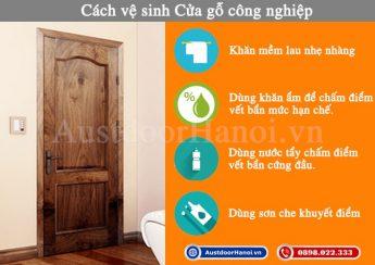 cách vệ sinh cửa gỗ công nghiệp