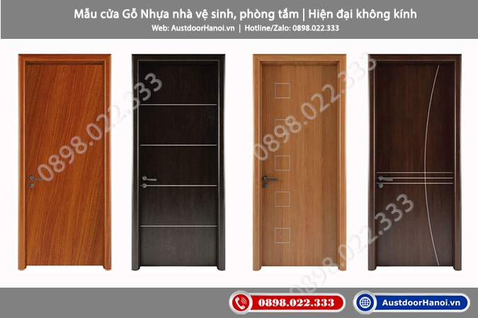 Mẫu cửa gỗ nhựa composite hiện đại làm cửa nhà vệ sinh, Toilet, phòng tắm