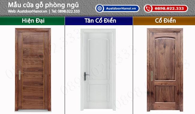 Mẫu cửa gỗ nhựa thông phòng ngủ đẹp tại hà nội