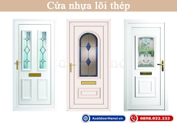 Mẫu cửa nhựa lõi thép sử dụng tấm pano nhựa PVC cho cửa nhà vệ sinh, phòng ngủ
