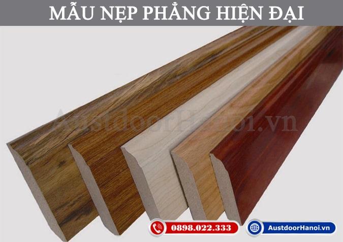 Mẫu nẹp khuôn khung cửa gỗ đẹp phẳng phong cách Hiện đại
