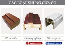 Khung khuôn bao cửa gỗ công nghiệp, nghiến, gỗ nhựa composite