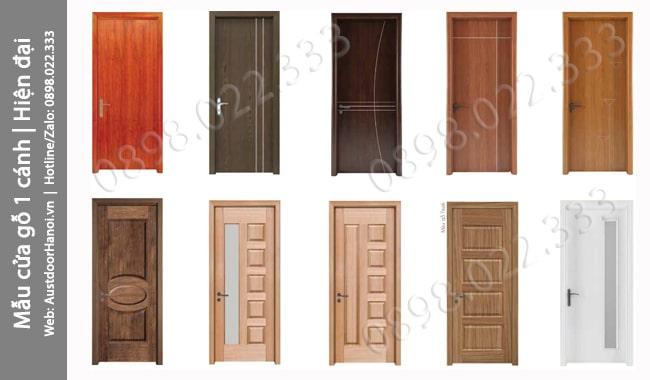 Những mẫu cửa gỗ phòng ngủ 1 cánh Hiện đại đẹp nhất