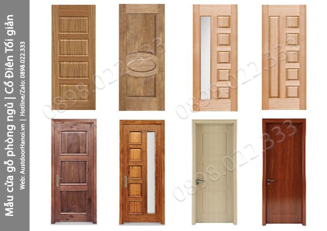 Các mẫu cửa gỗ thông phòng ngủ Cổ điển tối giản đẹp nhất