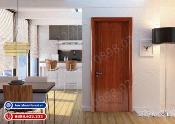 mẫu cửa gỗ nhựa composite cổ điển phòng ngủ Huge Austdoor