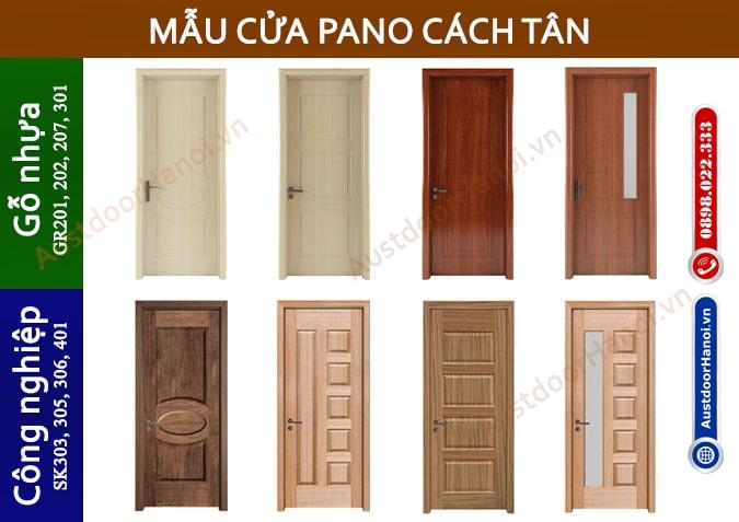 Các mẫu cửa gỗ Hiện đại Pano Cách Tân - Cửa gỗ Austdoor