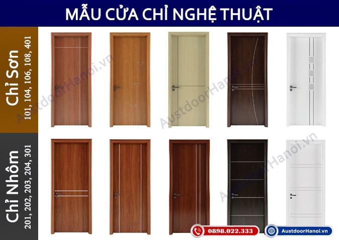 các mẫu cửa gỗ phòng ngủ chỉ nghệ thuật Austdoor - Huge