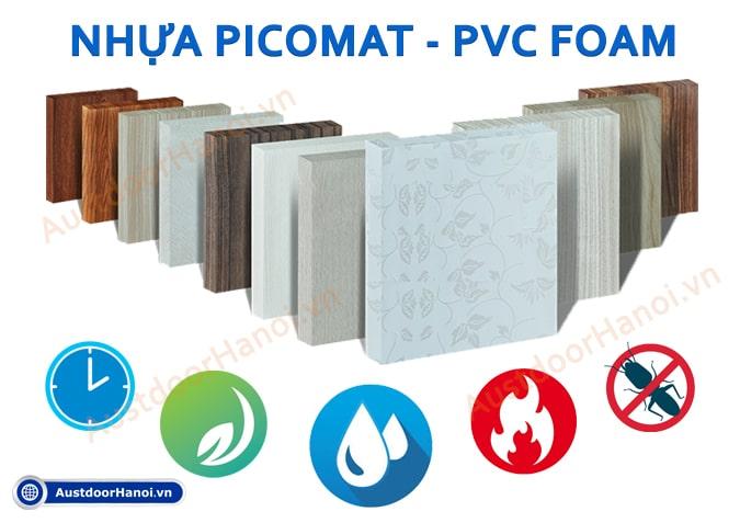 tấm ván gỗ nhựa picomat - pvc foam là gì