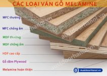 Ván gỗ công nghiệp MDF, MFC, HDF phủ Melamine là gì ?