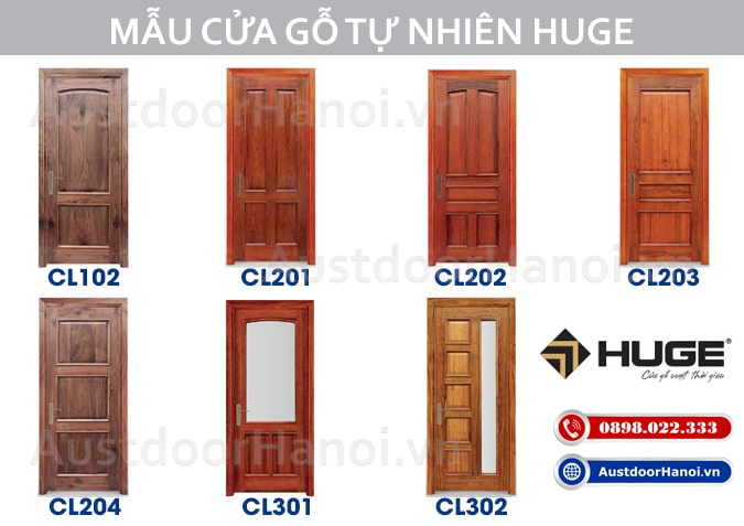 Các loại cửa gỗ phòng ngủ làm bằng cửa gỗ tự nhiên Lim Nam Phi Huge Austdoor