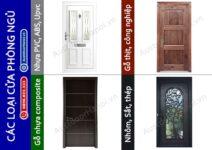 Các loại và mẫu cửa phòng ngủ bằng gỗ, nhựa, sắt, nhôm, thép đẹp.