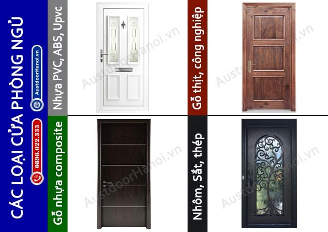 Các nhóm và mẫu cửa phòng ngủ làm bằng gỗ, nhựa, sắt, thép, nhôm đẹp