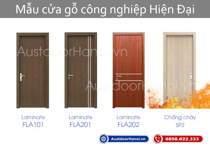 Các mẫu cửa gỗ công nghiệp Hiện đại đẹp - AustdoorHanoi.vn