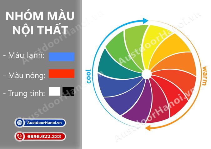 Cách chọn phân loại nhóm màu trang trí nội thất