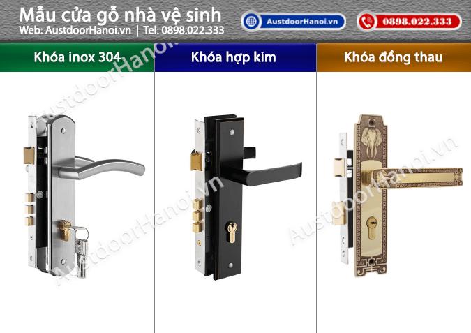 Khóa cửa gỗ inox sus 304 hợp kim mạ đồng thau