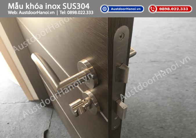 Mẫu khóa cửa gỗ inox sus304 mờ cao cấp hafele