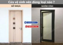 Cửa nhà vệ sinh, phòng tắm nên lắp Nhôm kính hay Gỗ nhựa composite ?