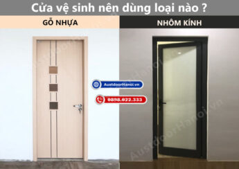 cửa nhà vệ sinh phòng tắm nên lắp cửa nhôm kính xingfa hay gỗ nhựa compoiste austdoor